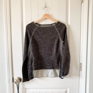 lou & grey | high low marled pullover sweater